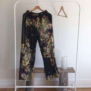 Zara floral palazzo pants